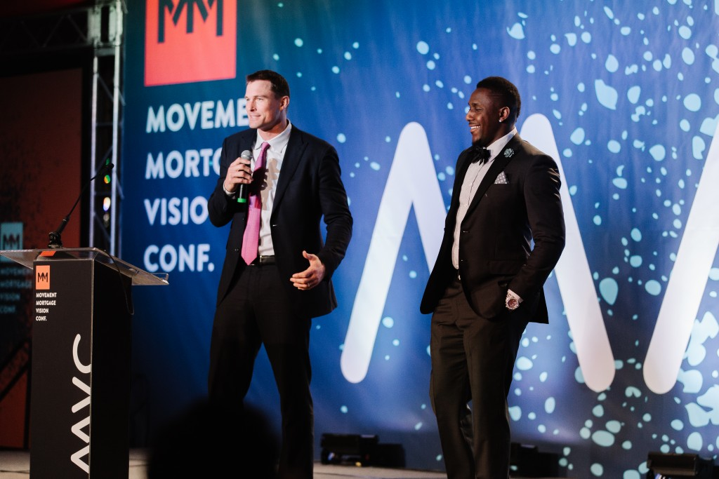 Movement CEO Casey Crawford introduces Thomas Davis.