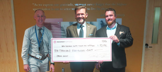 Movement Mortgage donates $10,000 to New England Center and Home for Veterans