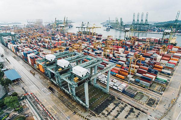 Cargo shipping yard